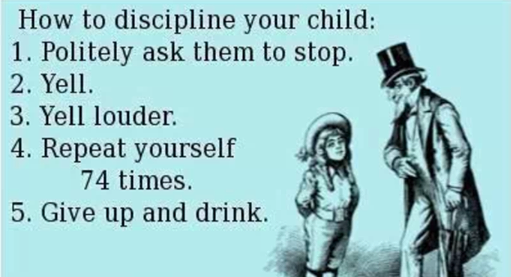 Discipline - the old fashioned way