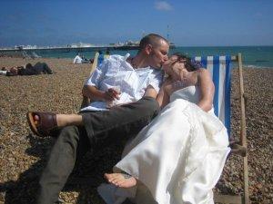 Brighton pier wedding