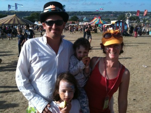 family at glasto