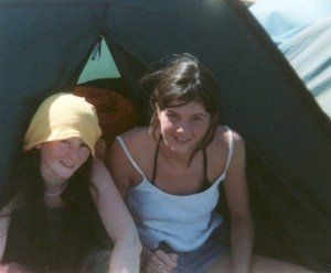 glastonbury 95 with Alison